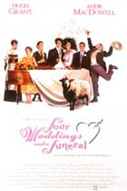 Four Weddings and a Funeral - 27 x 40 Movie Poster - UK Style A