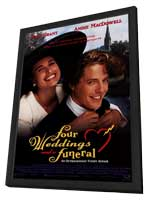 Four Weddings and a Funeral - 11 x 17 Movie Poster - Style A - in Deluxe Wood Frame