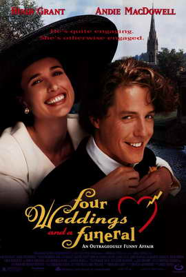Four Weddings and a Funeral - 11 x 17 Movie Poster - Style A
