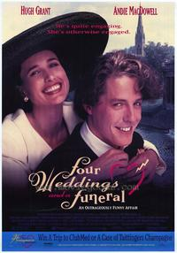 Four Weddings and a Funeral - 11 x 17 Movie Poster - Style B