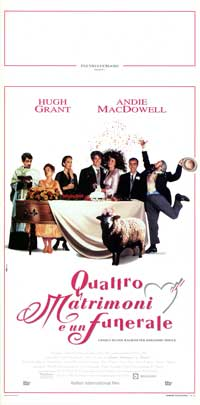 Four Weddings and a Funeral - 13 x 28 Movie Poster - Italian Style A