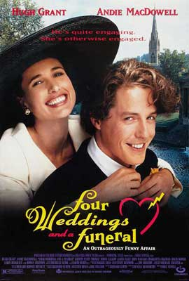 Four Weddings and a Funeral - 11 x 17 Movie Poster - Style C