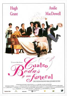 Four Weddings and a Funeral - 27 x 40 Movie Poster - Spanish Style A