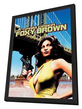 Foxy Brown - 27 x 40 Movie Poster - Style B - in Deluxe Wood Frame