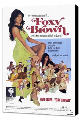 Foxy Brown - 11 x 17 Movie Poster - Style A - Museum Wrapped Canvas
