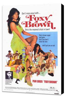 Foxy Brown - 27 x 40 Movie Poster - Style A - Museum Wrapped Canvas