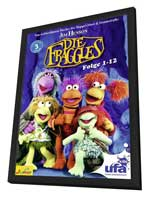 Fraggle Rock - 11 x 17 TV Poster - Germany Style A - in Deluxe Wood Frame