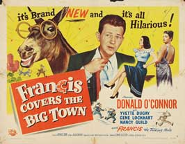 Francis Covers the Big Town - 22 x 28 Movie Poster - Half Sheet Style B