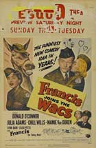 Francis Joins the WACs - 11 x 17 Movie Poster - Style A