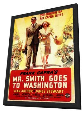 Frank Capra's Mr. Smith Goes to Washington - 11 x 17 Movie Poster - Style A - in Deluxe Wood Frame