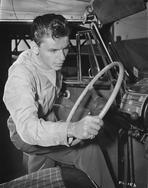 Frank Sinatra - Frank Sinatra Holding Steering Wheel