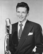 Frank Sinatra - Frank Sinatra smiling in Portrait with Signature