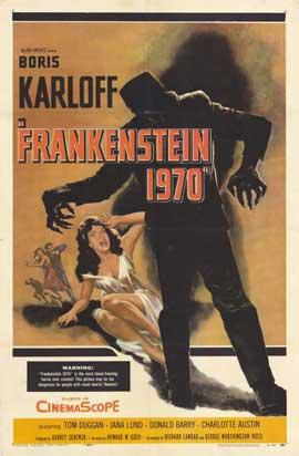Frankenstein 1970 - 11 x 17 Movie Poster - Style B
