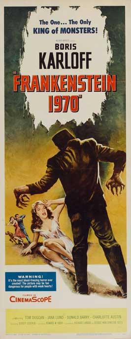 Frankenstein 1970 - 14 x 36 Movie Poster - Insert Style A