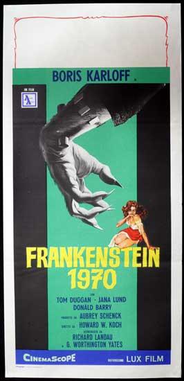 Frankenstein 1970 - 13 x 26 Movie Poster - Italian Style A
