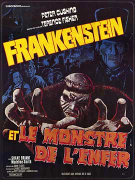 Frankenstein and the Monster from Hell - 11 x 17 Poster - Foreign - Style A