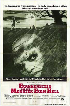 Frankenstein and the Monster from Hell - 27 x 40 Movie Poster - Style A