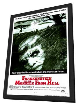 Frankenstein and the Monster from Hell - 11 x 17 Movie Poster - Style A - in Deluxe Wood Frame