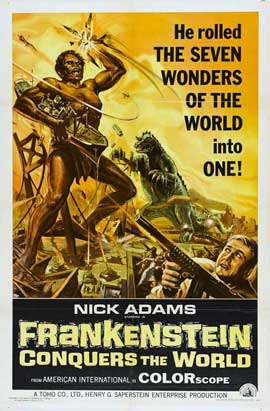 Frankenstein Conquers the World - 11 x 17 Movie Poster - Style A