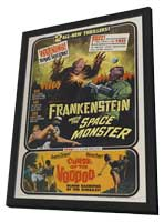 Frankenstein Meets the Space Monster - 11 x 17 Movie Poster - Style A - in Deluxe Wood Frame