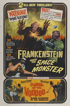 Frankenstein Meets the Space Monster - 11 x 17 Movie Poster - Style A