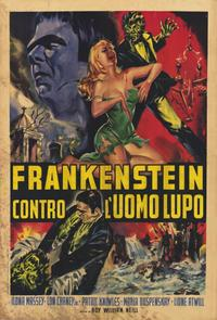 Frankenstein Meets the Wolfman - 11 x 17 Movie Poster - Italian Style A