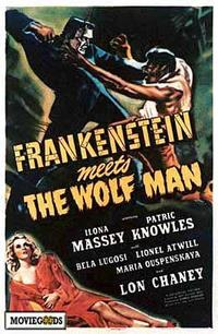 Frankenstein Meets the Wolfman - 43 x 62 Movie Poster - Bus Shelter Style A