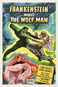 Frankenstein Meets the Wolfman - 11 x 17 Movie Poster - Style B