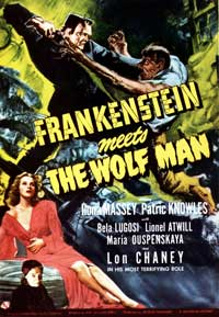 Frankenstein Meets the Wolfman - 11 x 17 Movie Poster - Style D