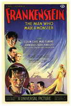 Frankenstein - 27 x 40 Movie Poster - Italian Style A