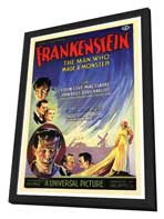 Frankenstein - 27 x 40 Movie Poster - Italian Style A - in Deluxe Wood Frame