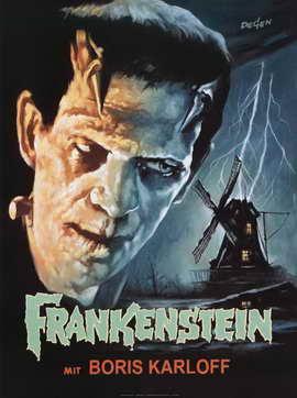 Frankenstein - 11 x 17 Movie Poster - Style E