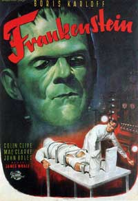 Frankenstein - 11 x 17 Movie Poster - German Style A