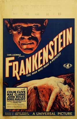 Frankenstein - 11 x 17 Movie Poster - Style P