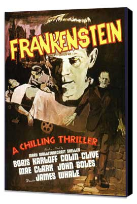Frankenstein - 11 x 17 Movie Poster - Style I - Museum Wrapped Canvas