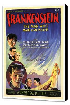 Frankenstein - 27 x 40 Movie Poster - Italian Style A - Museum Wrapped Canvas