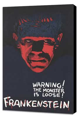 Frankenstein - 27 x 40 Movie Poster - Style C - Museum Wrapped Canvas