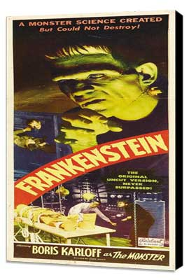 Frankenstein - 14 x 36 Movie Poster - Insert Style A - Museum Wrapped Canvas