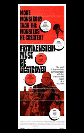 Frankenstein Must Be Destroyed - 11 x 17 Movie Poster - Style A