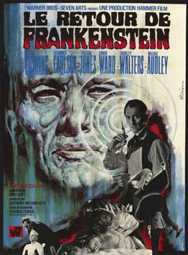 Frankenstein Must Be Destroyed - 11 x 17 Movie Poster - French Style A
