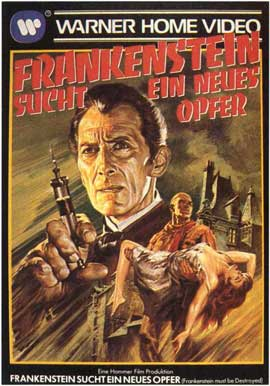 Frankenstein Must Be Destroyed - 11 x 17 Movie Poster - German Style B
