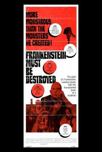 Frankenstein Must Be Destroyed - 27 x 40 Movie Poster - Style A