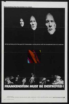 Frankenstein Must Be Destroyed - 11 x 17 Movie Poster - Style B