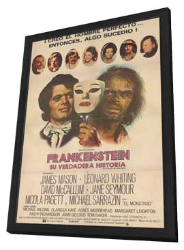 Frankenstein: The True Story - 11 x 17 Movie Poster - Spanish Style A - in Deluxe Wood Frame