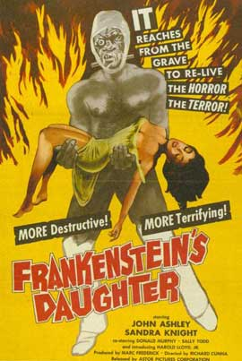 Frankenstein's Daughter - 11 x 17 Movie Poster - Style A
