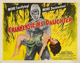 Frankenstein's Daughter - 22 x 28 Movie Poster - Half Sheet Style A