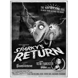 Frankenweenie - Sparky's Return Poster Canvas Giclee Print
