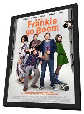 Frankie Go Boom - 11 x 17 Movie Poster - Style B - in Deluxe Wood Frame