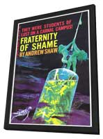 Fraternity Of Shame - 11 x 17 Retro Book Cover Poster - in Deluxe Wood Frame