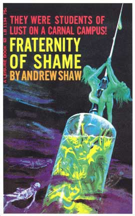 Fraternity Of Shame - 11 x 17 Retro Book Cover Poster